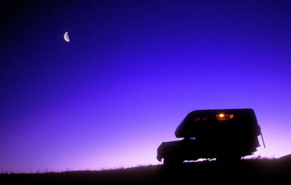 Wall Art - Photograph - Rv Camping Under The Light Of The Moon by Chris Harris