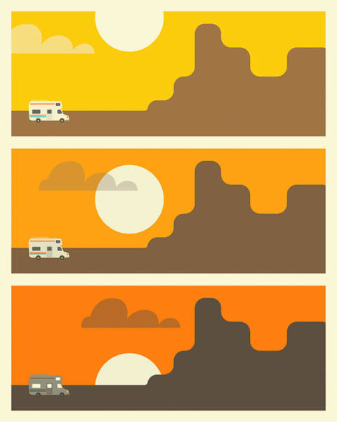 Rv Sunset 1 Art Print
