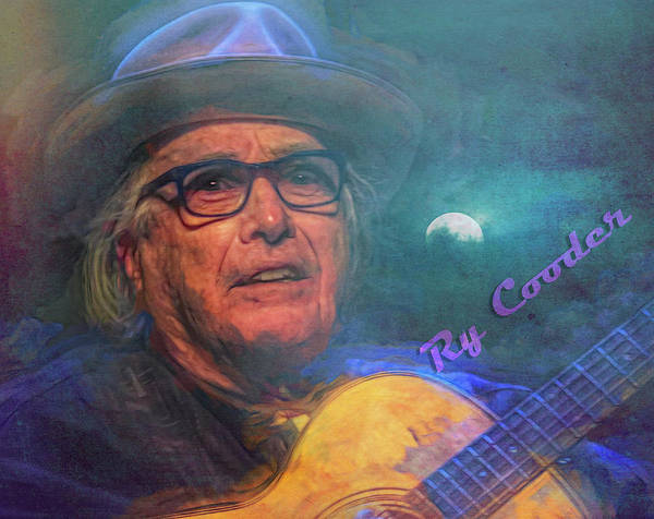 Wall Art - Mixed Media - Ry Cooder by Mal Bray