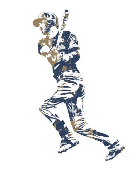 Wall Art - Mixed Media - Ryan Braun Milwaukee Brewers Pixel Art 10 by Joe Hamilton