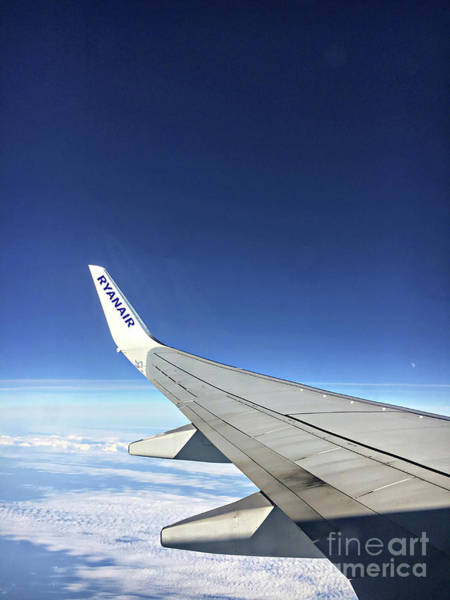 Wall Art - Photograph - Ryanair Aircraft Wing by Tom Gowanlock