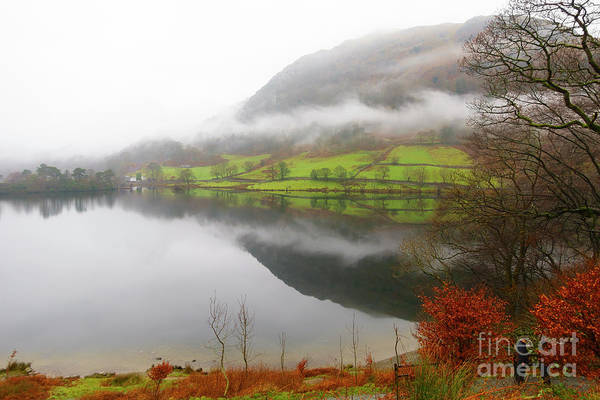 Wall Art - Photograph - Rydal Water On A Misty Day In December by Louise Heusinkveld