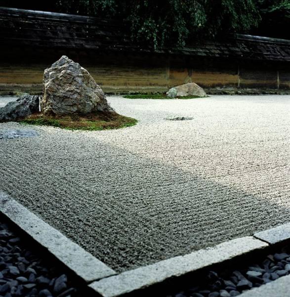 Vertical Garden Photograph - Ryoanji Zen Garden, Close Up by Anna Watson