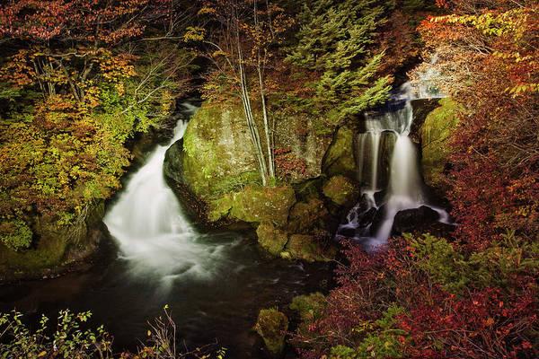 Nikko Photograph - Ryuzu Waterfall by Photography By Haiyin