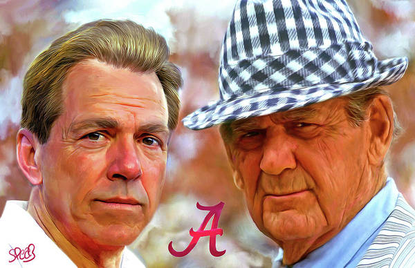 Wall Art - Painting - Saban And Bear by Mark Spears