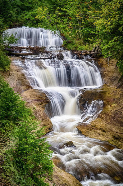 Photograph - Sable Falls by Brad Bellisle