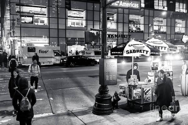 Photograph - Sabrett Hot Dogs At Night New York City by John Rizzuto