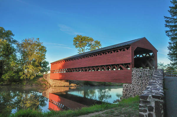 Wall Art - Photograph - Sachs Covered Bridge - Gettysburg In The Morning Light by Bill Cannon