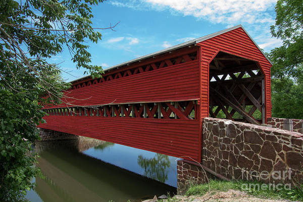 Photograph - Sachs Covered Bridge by Photography by Laura Lee