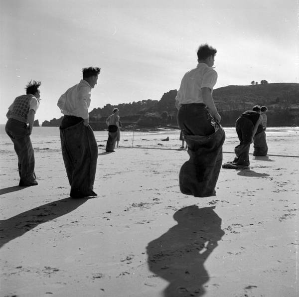 Channel Islands Photograph - Sack Race by Haywood Magee
