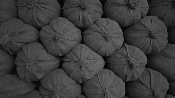 Wall Art - Photograph - Sacks Stacked by Art Spectrum
