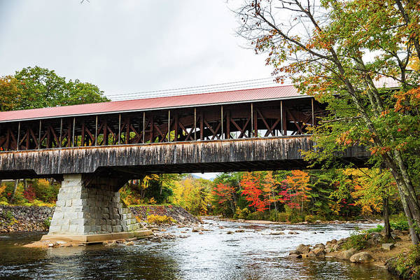 Photograph - Saco River Covered Bridge by Robert Clifford