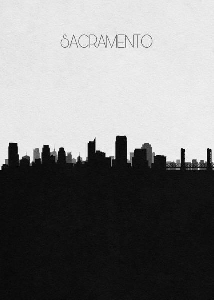 Voyage Digital Art - Sacramento Cityscape Art by Inspirowl Design