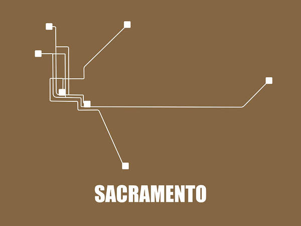 Wall Art - Digital Art - Sacramento Subway Map 2 by Naxart Studio