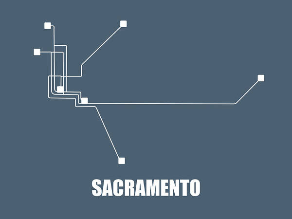 Wall Art - Digital Art - Sacramento Subway Map by Naxart Studio
