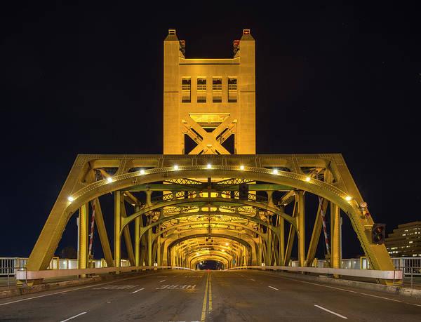 Photograph - Sacramento Tower Bridge - 1 by Jonathan Hansen