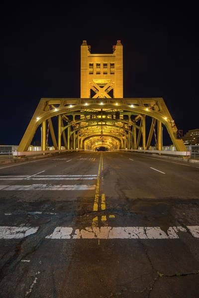 Photograph - Sacramento Tower Bridge - 2 by Jonathan Hansen