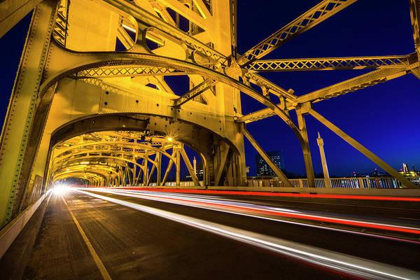 Photograph - Sacramento Tower Bridge - 4 by Jonathan Hansen