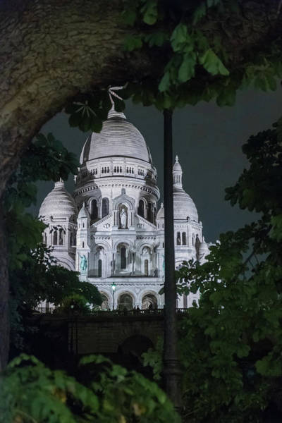 Nature Wall Art - Photograph - Sacre Coeur, Paris By Night 4 by Iordanis Pallikaras