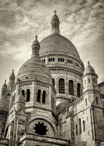 Wall Art - Photograph - Sacre Coeur - Sepia by Stephen Stookey