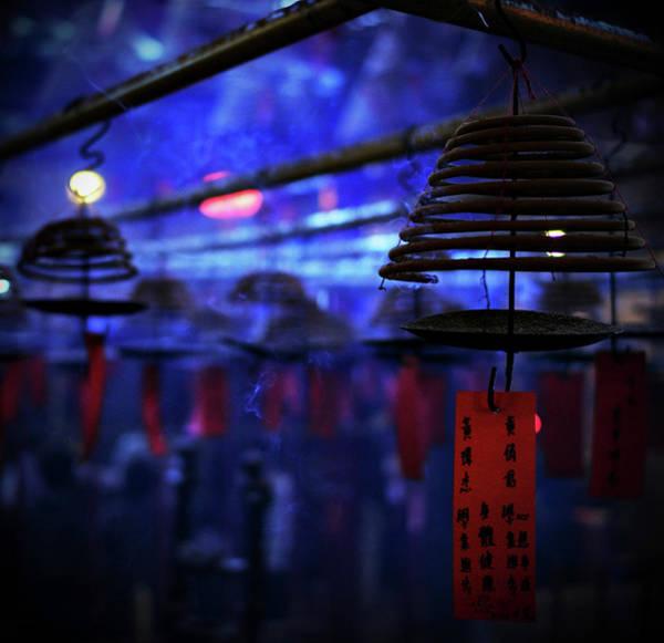 Wall Art - Photograph - Sacred Blue Smoke Temple by Fabio Cremasco