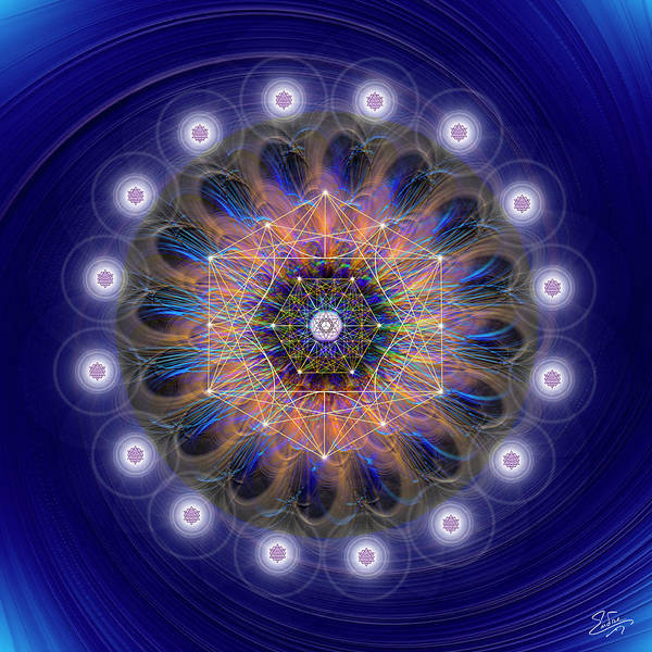 Digital Art - Sacred Geometry 726 by Endre Balogh