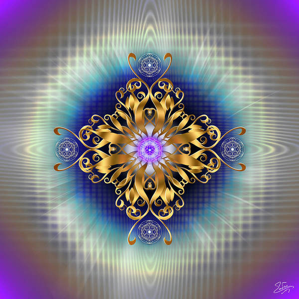Digital Art - Sacred Geometry 730 by Endre Balogh