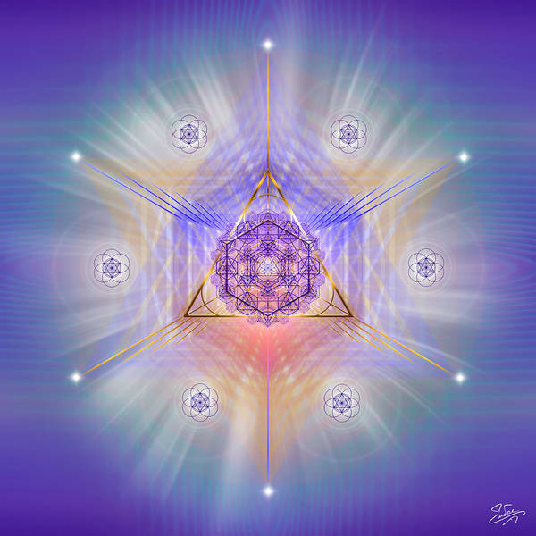 Digital Art - Sacred Geometry 734 by Endre Balogh