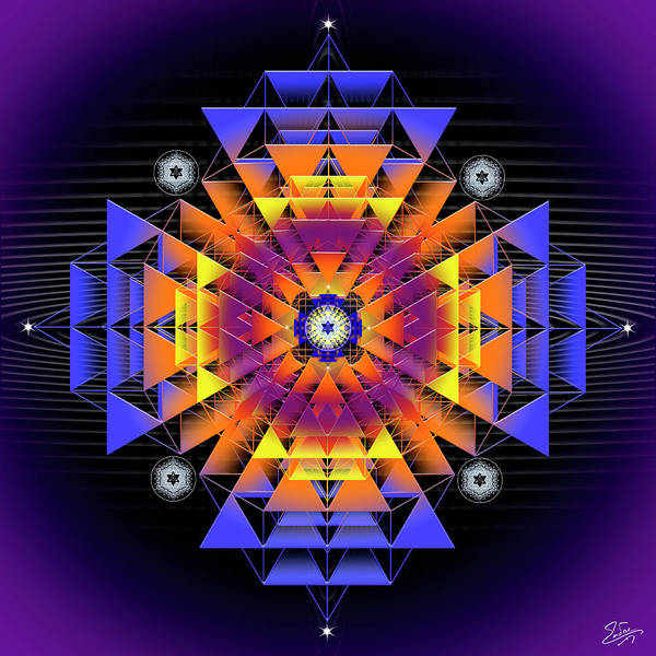Digital Art - Sacred Geometry 739 by Endre Balogh