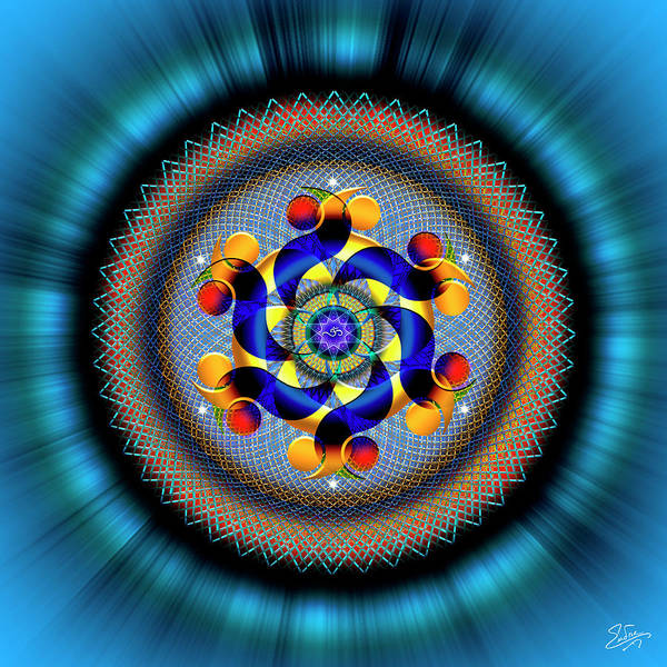 Digital Art - Sacred Geometry 740 Number 2 by Endre Balogh