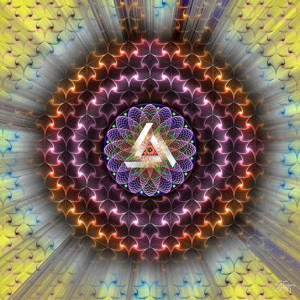 Digital Art - Sacred Geometry 742 by Endre Balogh