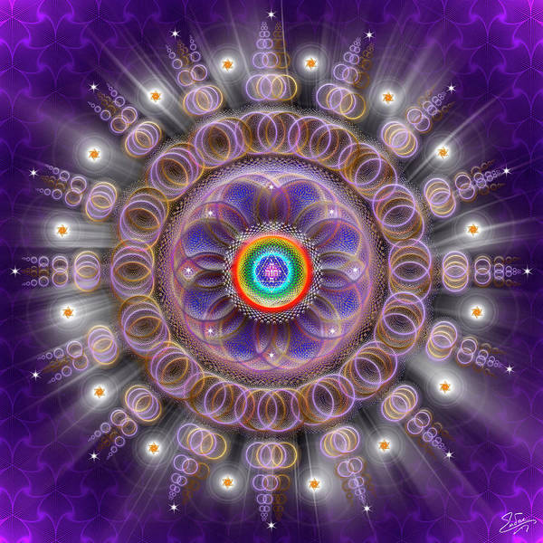 Digital Art - Sacred Geometry 743 by Endre Balogh