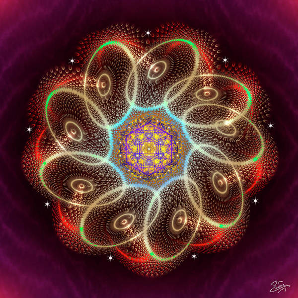 Digital Art - Sacred Geometry 744 by Endre Balogh