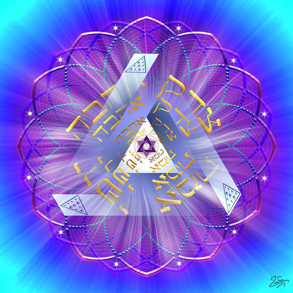 Digital Art - Sacred Geometry 746 by Endre Balogh