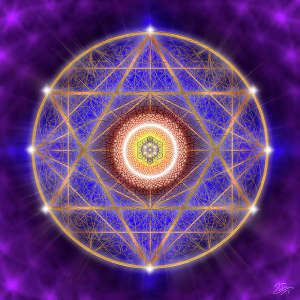 Digital Art - Sacred Geometry 747 by Endre Balogh