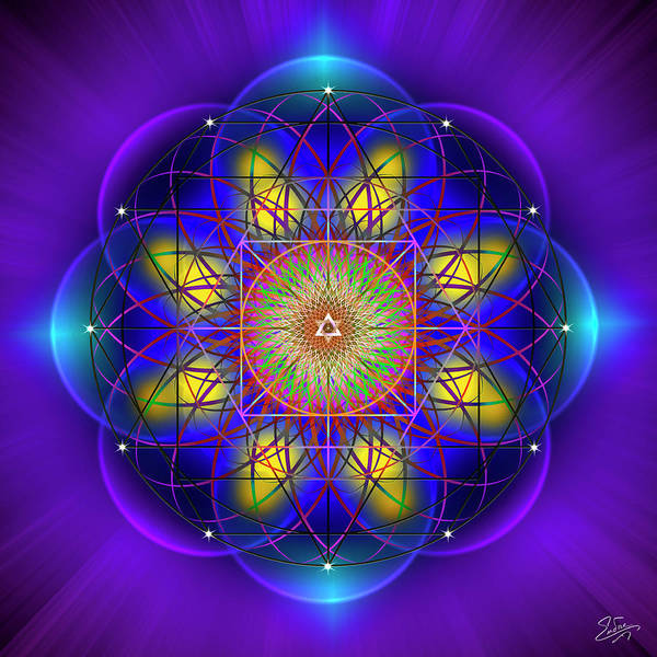 Digital Art - Sacred Geometry 749 by Endre Balogh
