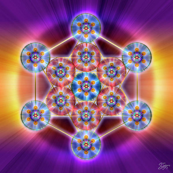 Digital Art - Sacred Geometry 750 by Endre Balogh