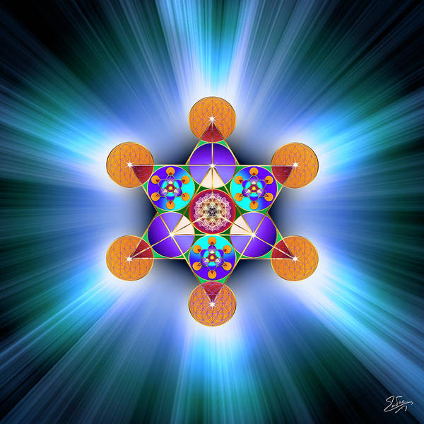 Digital Art - Sacred Geometry 751 by Endre Balogh
