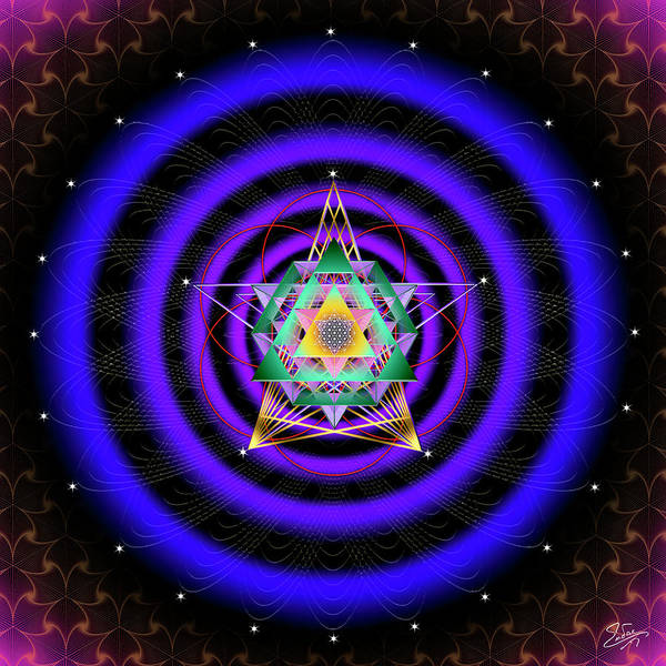 Digital Art - Sacred Geometry 754 by Endre Balogh