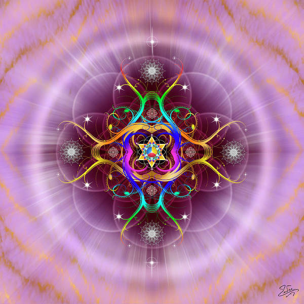 Digital Art - Sacred Geometry 757 by Endre Balogh