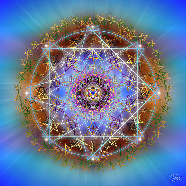 Digital Art - Sacred Geometry 758 by Endre Balogh