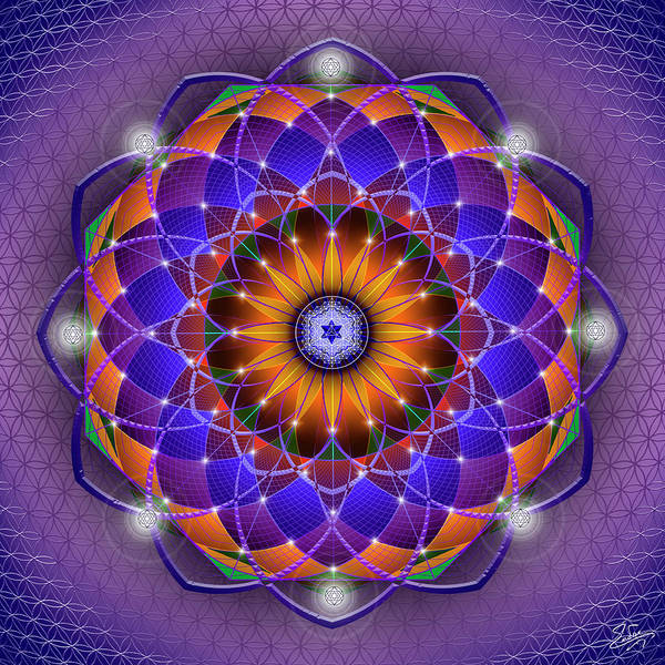 Digital Art - Sacred Geometry 760 by Endre Balogh