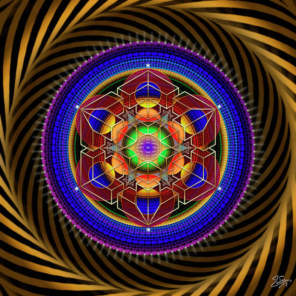 Digital Art - Sacred Geometry 763 by Endre Balogh