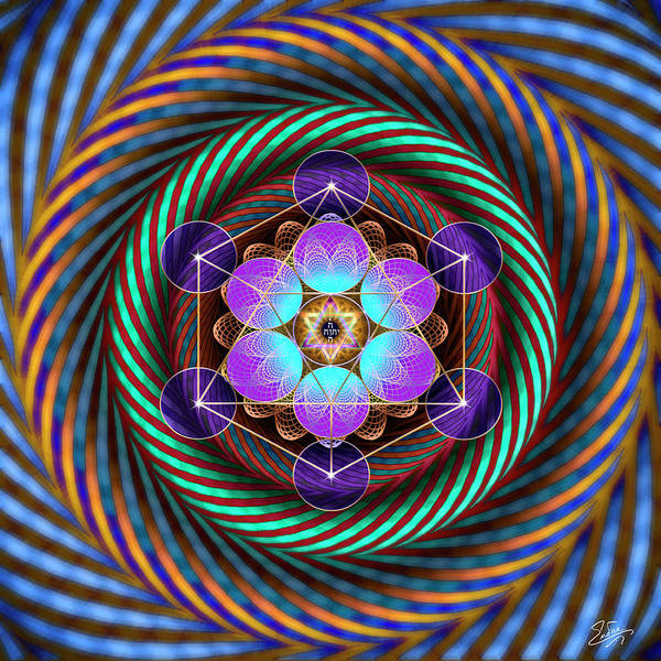 Digital Art - Sacred Geometry 764 by Endre Balogh