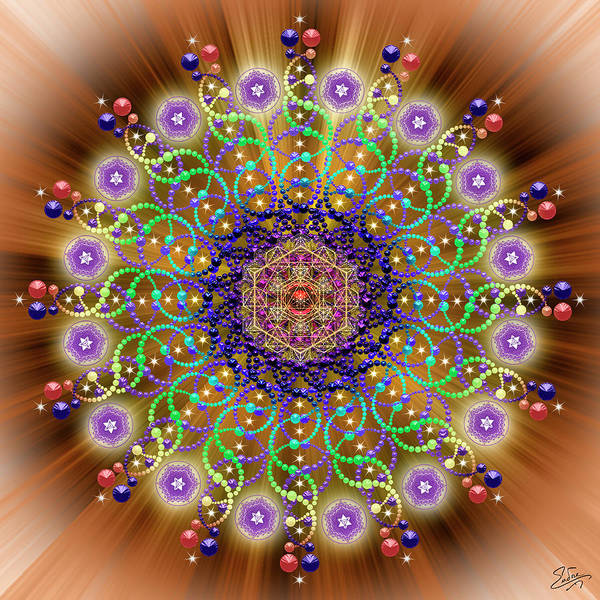 Digital Art - Sacred Geometry 765 by Endre Balogh