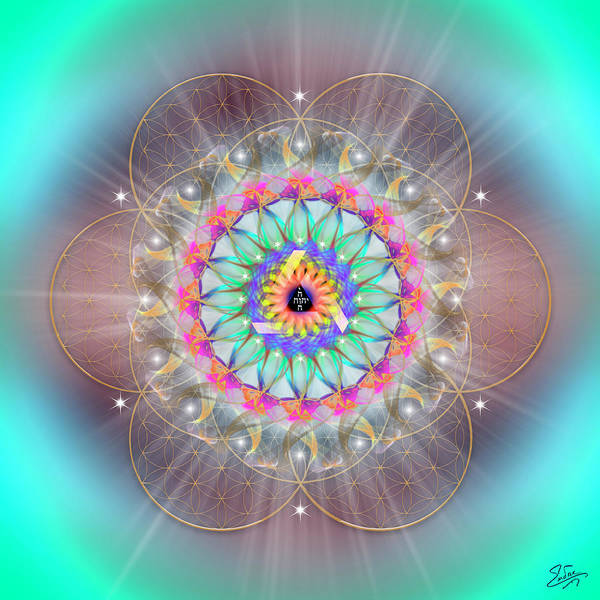 Digital Art - Sacred Geometry 769 by Endre Balogh