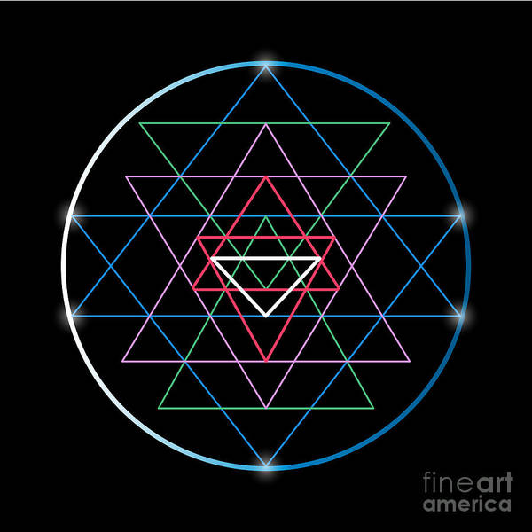 Wall Art - Digital Art - Sacred Geometry And Alchemy Symbol Sri by Maddyz