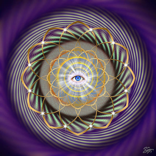 Digital Art - Sacred Geometry Number 735 by Endre Balogh
