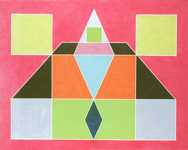 Wall Art - Painting - Sacred Geometry Salmon by Alicia Sterling Beach