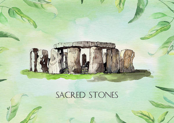 Wall Art - Mixed Media - Sacred Stones by Amanda Lakey